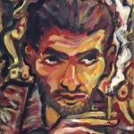 Autoportret - 30 x 40 cm, acril-lemn