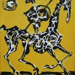 Don Quijote II - 25 x 30 cm, acril panza