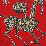 Don Quijote IV - 25 x 30 cm, acril panza