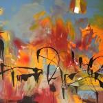Peisaj - 110 x 80 cm, acril panza