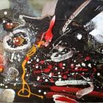 Geneza - 100 x 60 cm, acril panza