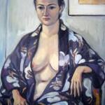 Portret japonez - 60 x 80 cm, ulei panza