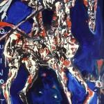 Don Quijote - 75 x 120 cm, acrilice panza